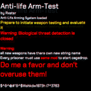 RXstar-AntiLifeArmmaTesting icon